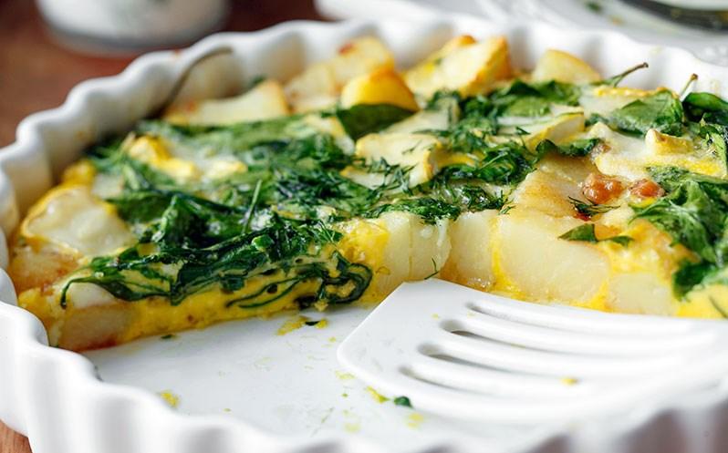 Рецепт омлета с картошкой и укропом