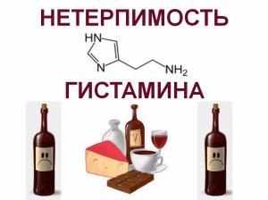 алкоголь и гистамин