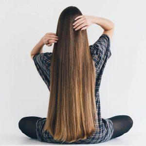 густые длинные волосы